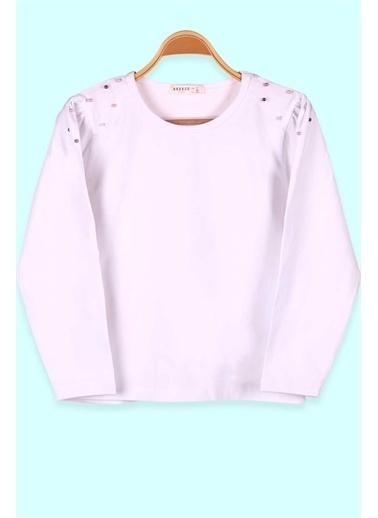 Breeze Kız Çocuk Uzun Kollu Tişört Basic Incili Beyaz (7-12 Yaş) Beyaz